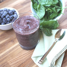 Blueberry Chia Banana Spinach Smoothie