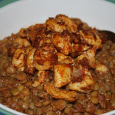 Moroccan Chicken and Lentils
