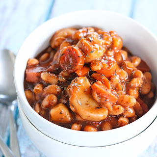 Slow cooker Sweet and sour beans