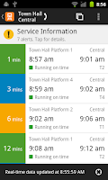 Screenshot of TripView Sydney Lite