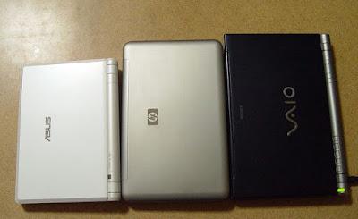 [NB]小筆電體積比一比!EPC700 vs HP2133 vs SONY T37!