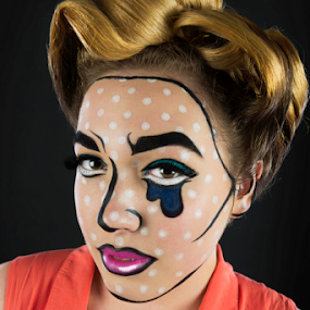 Pop Art Pinup by Adz King - People Portraits of Women