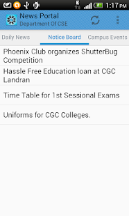 News Portal - CEC Mohali - screenshot