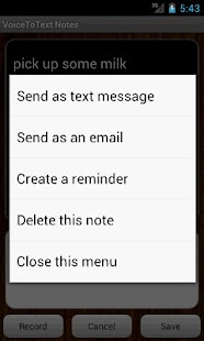VoiceToText Notes - screenshot