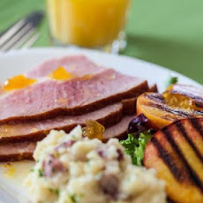 Easter Ham with Grilled Peaches Recipe