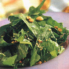 Dandelion Salad with Warm Hazelnut Vinaigrette