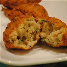 Courgette and Clam Fritters