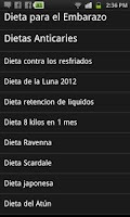 Screenshot of Dietas Android