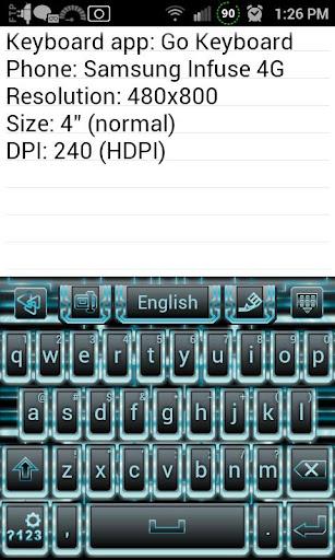 Techno Tron Keyboard Skin