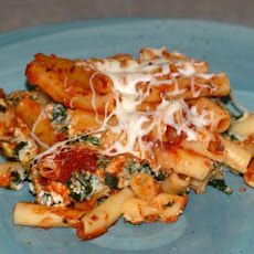 Baked Ziti With Spinach and Cheese