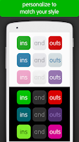 Screenshot of ins and outs