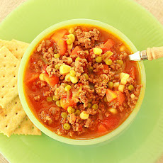 School Lunchroom Hamburger Soup