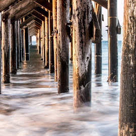 Smooth Water by Chris Coggin - Buildings & Architecture Bridges & Suspended Structures ( canon, gaviota, 805, california, pier, long exposure,  )