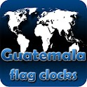 Guatemala flag clocks icon