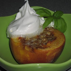 Baked Peaches Stuffed With Almonds