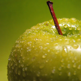 Golden Apple by Janet Herman - Food & Drink Fruits & Vegetables ( fruit, apple, green apple, yellow apple )