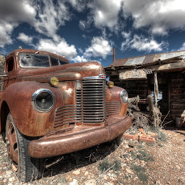Jerome Az Old Truck by Tina Benjamin - Transportation Automobiles ( arizona, jerome, ghost town, gold king mine, old truck )