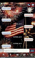 Screenshot of GO SMS THEME/july4th