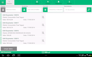 Screenshot of CISSMob Venda Assistida
