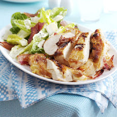 Quick Caesar salad with roast chicken & bacon