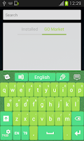 Screenshot of Free Keypad Green
