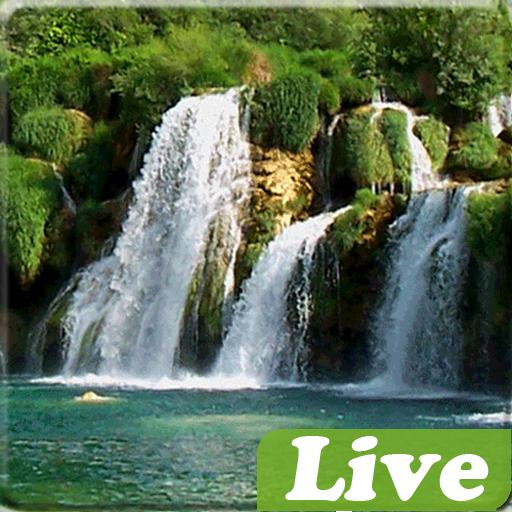 個人化必備App|Waterfalls Live Wallpaper LOGO-綠色工廠好玩App