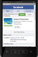 Screenshot of Radio Primavera