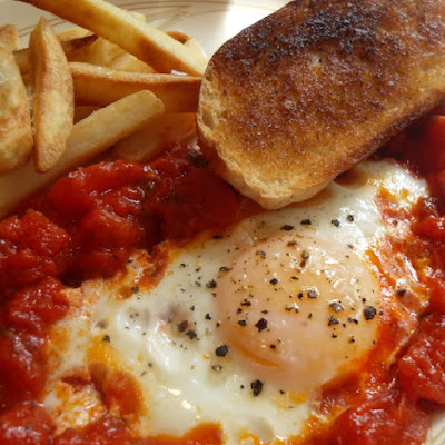 Pan Roasted Eggs and Tomatoes
