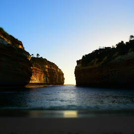 The gold of Loch Ard Gorge by Kristie Bowden - Landscapes Caves & Formations ( great ocean road, rock formations, golden sunsets, australia, loch ard gorge )