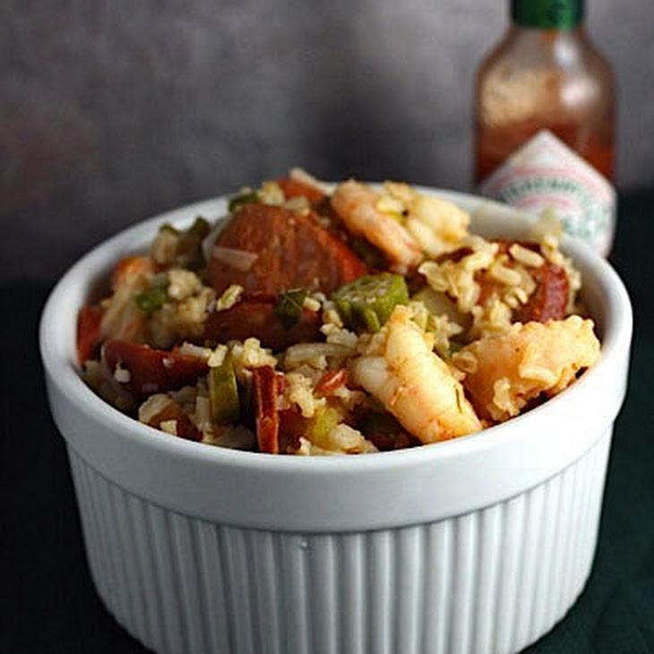 Cajun Jambalaya with Okra, Andouille and Shrimp Recipe   Yummly