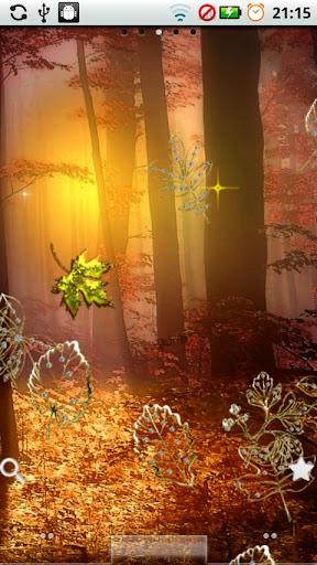 Fall Golden Diamond Leaves