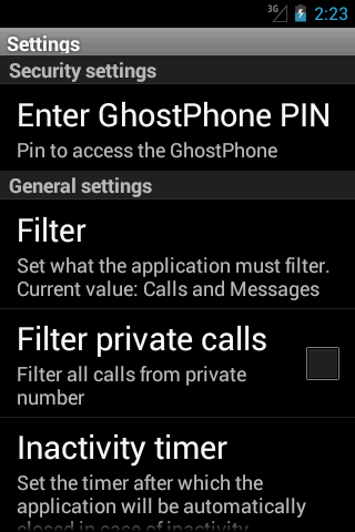 Ghost Phone - screenshot