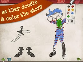 Screenshot of Pirate Scribblebeard Draw Free
