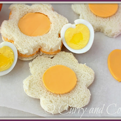Heart Shaped Egg and Sandwich Cut-outs for Lunchbox Week