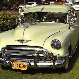 by Ed Hanson - Transportation Automobiles ( car, old, green, chevy )