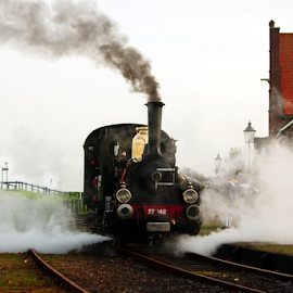 Historic steam train Medemblik-Hoorn in the Netherlands by Mike Bing - Transportation Trains ( locomotive, train, medemblik, hoorn, steam )