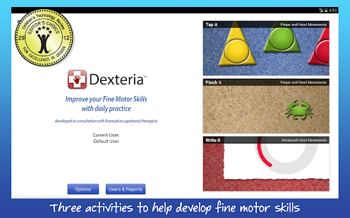 Dexteria Fine Motor/Rehab Aid screenshot for Android