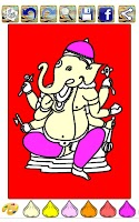 Screenshot of Coloring Book Of Ganesha