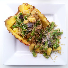 Tropical Quinoa Stuffed Pineapple