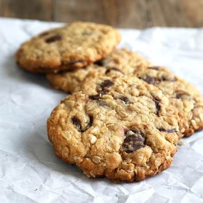 New York Times-Style Gluten Free Oatmeal Chocolate Chip Cookies
