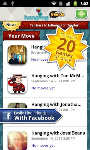 hanging-with-friends for android screenshot