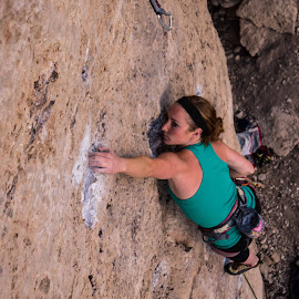 Ten Sleep 8 by Climb Globe - Sports & Fitness Climbing ( ten sleep, climbing, rock climbing, female, wyoming )