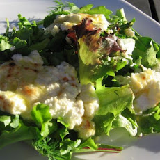 Spanish Tapas - Grilled Goat's Cheese on Bed of Lettuce