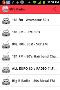 80's Radio - screenshot