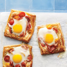 Tomato, Egg, and Prosciutto Tarts