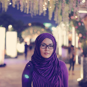 the Violet by Budie Deathlust - People Portraits of Women ( canon, wife, woman, veil, hijab, photography )