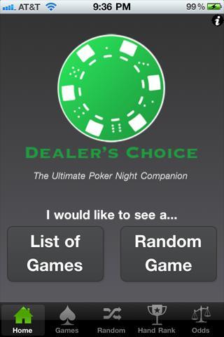 Dealers Choice Poker Companion