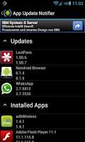 Screenshot of App Update Notifier