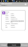 Screenshot of Contacts to ( Text,PDF,Email)