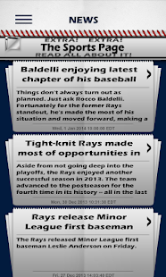 Baseball Pocket Sked - Rays - screenshot